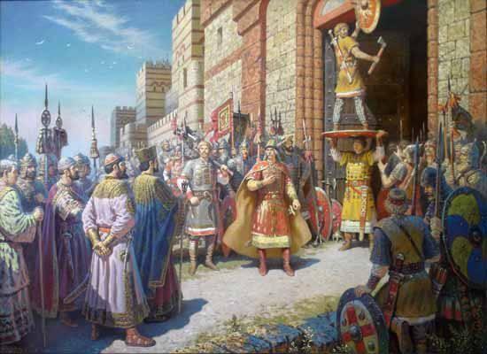 Ответ теста по истории древней Руси  - 907 г.