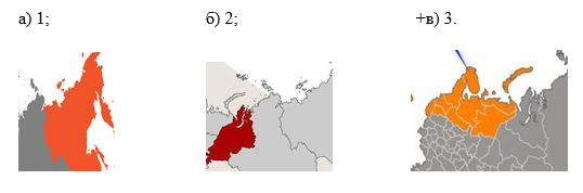 вопрос теста Территория Европейского Севера