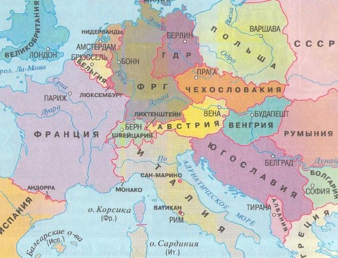 вопрос теста Каким годом датирована карта Европы