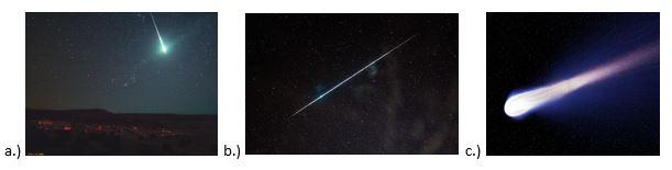 вопрос теста Хвост кометы
