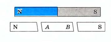 вопрос теста Полосовой магнит