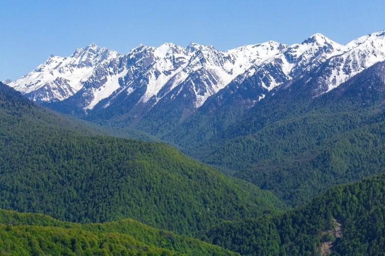 вопрос теста Кавказские горы