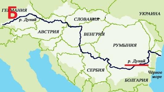 вопрос теста Крупная река Европы2
