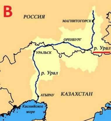 вопрос теста Крупная река Европы
